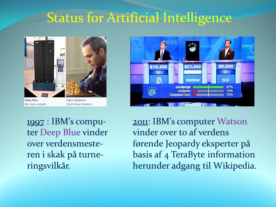 Status for Artificial Intelligence