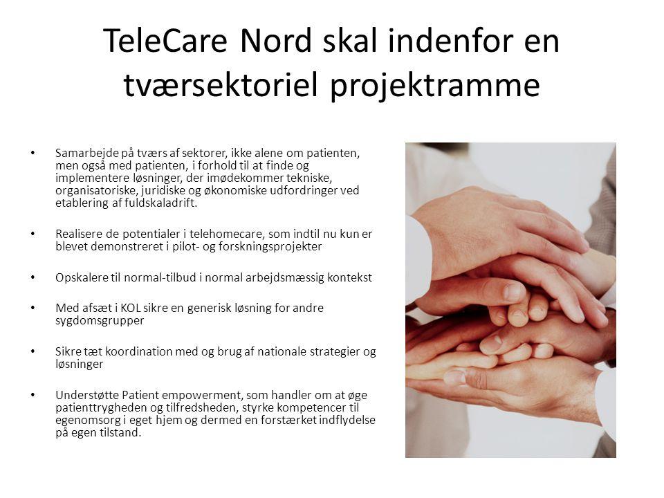 TeleCare Nord skal indenfor en tværsektoriel projektramme