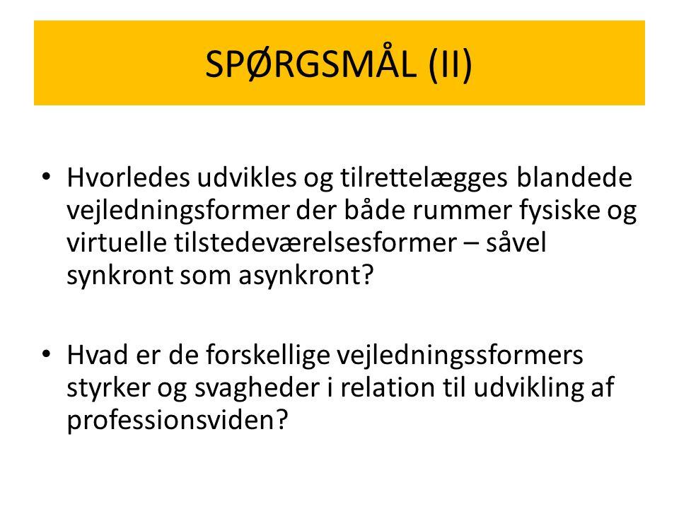 SPØRGSMÅL (II)