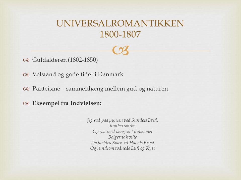 UNIVERSALROMANTIKKEN 1800-1807