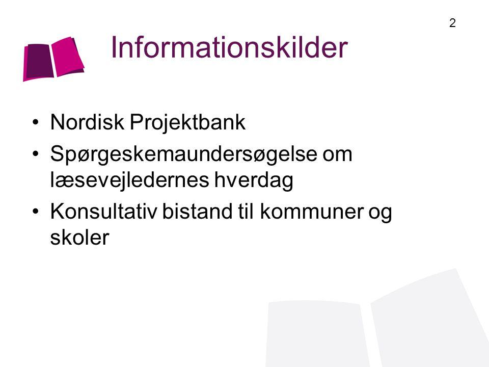 Informationskilder Nordisk Projektbank