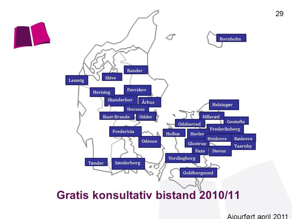 Gratis konsultativ bistand 2010/11