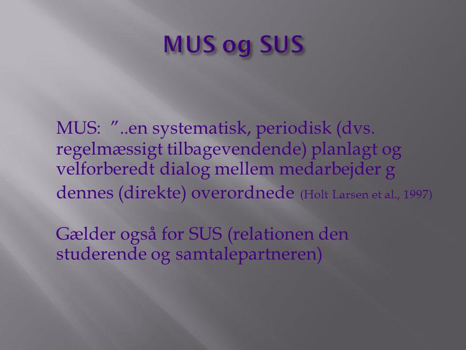 MUS og SUS