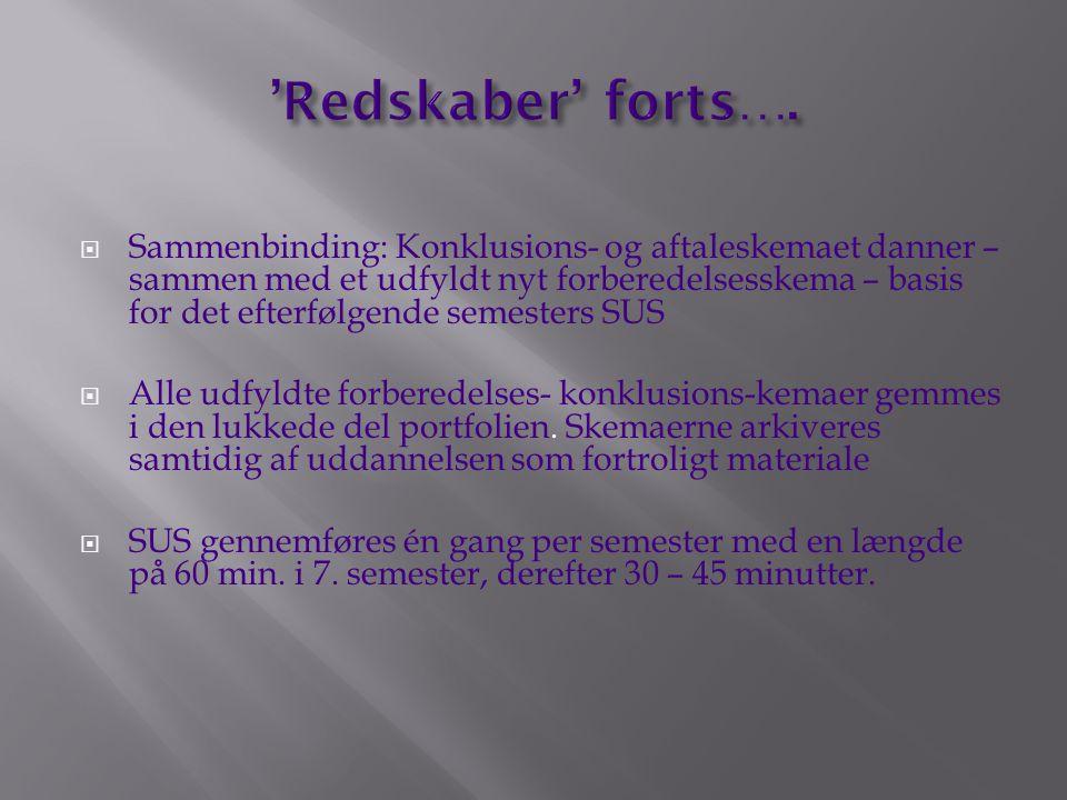 'Redskaber' forts….