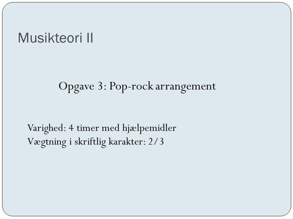 Opgave 3: Pop-rock arrangement