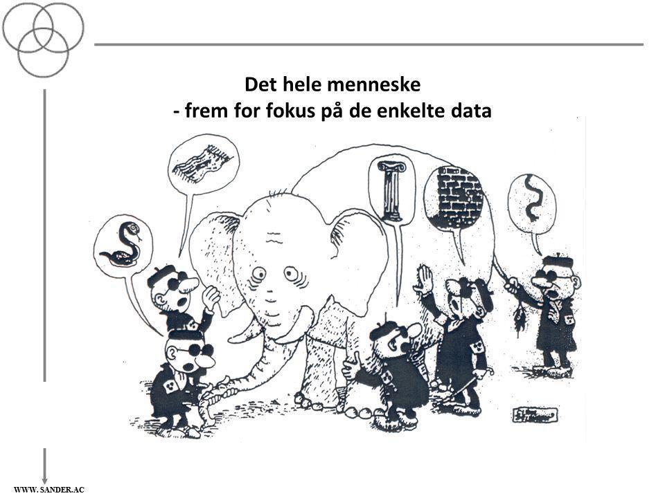Det hele menneske - frem for fokus på de enkelte data