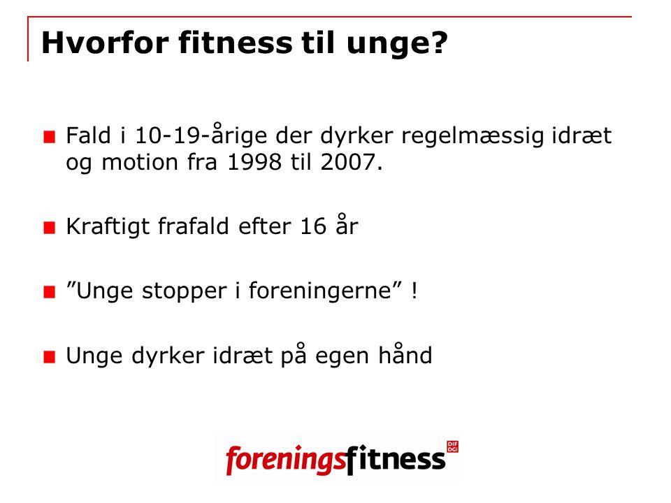 Hvorfor fitness til unge