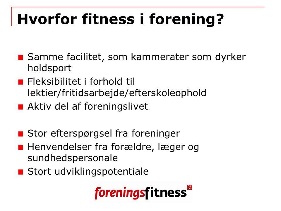 Hvorfor fitness i forening