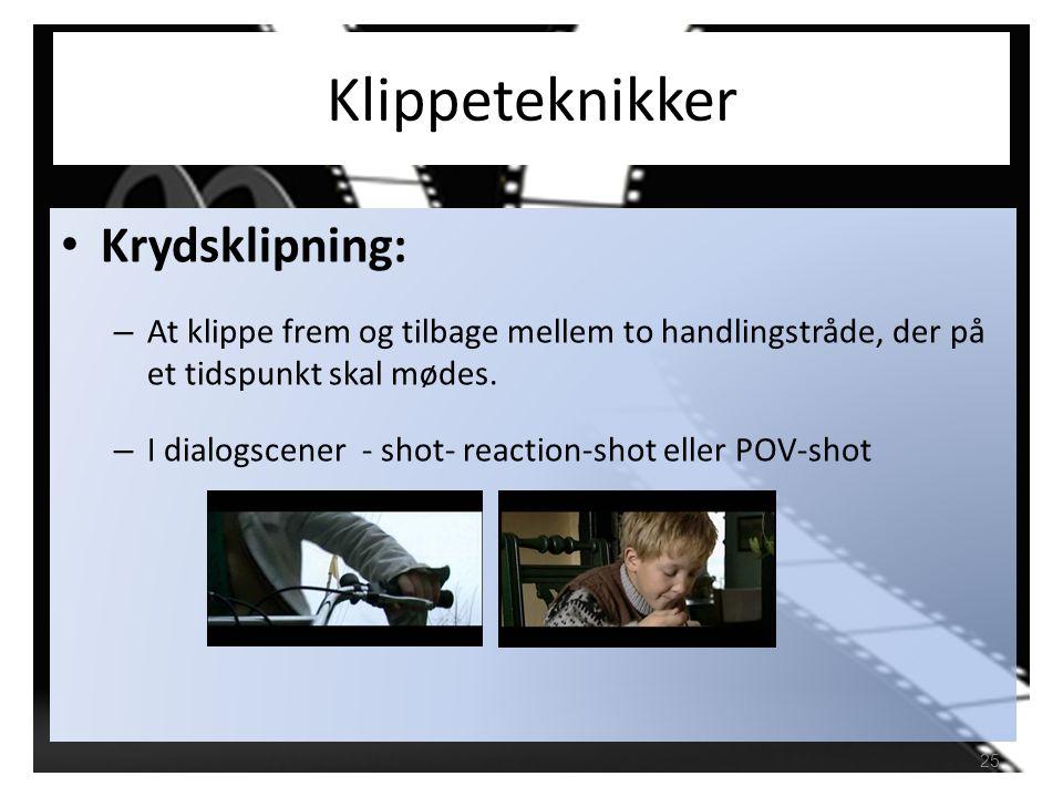 Klippeteknikker Krydsklipning: