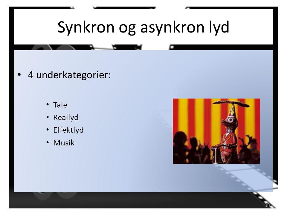 Synkron og asynkron lyd