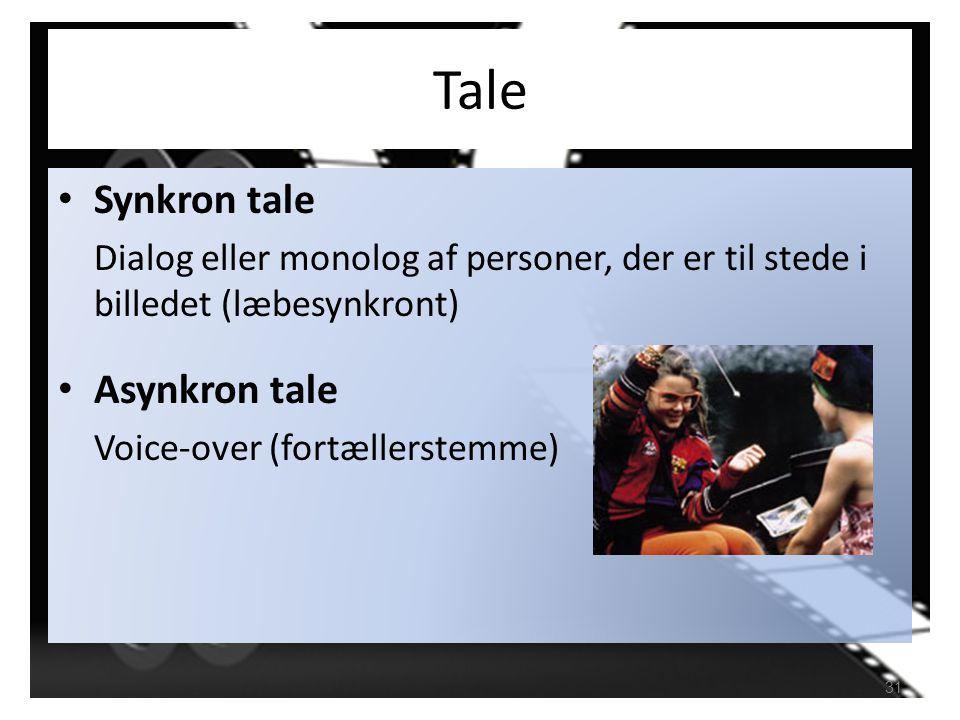 Tale Synkron tale Asynkron tale
