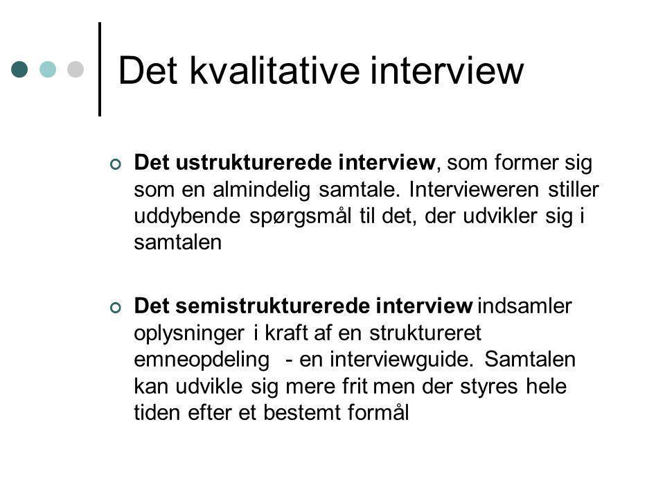 Det kvalitative interview