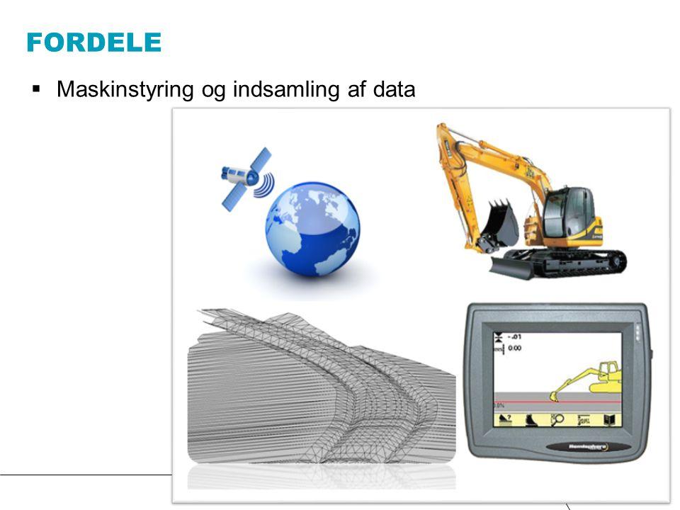 Fordele Maskinstyring og indsamling af data