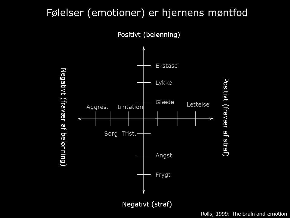 Følelser (emotioner) er hjernens møntfod