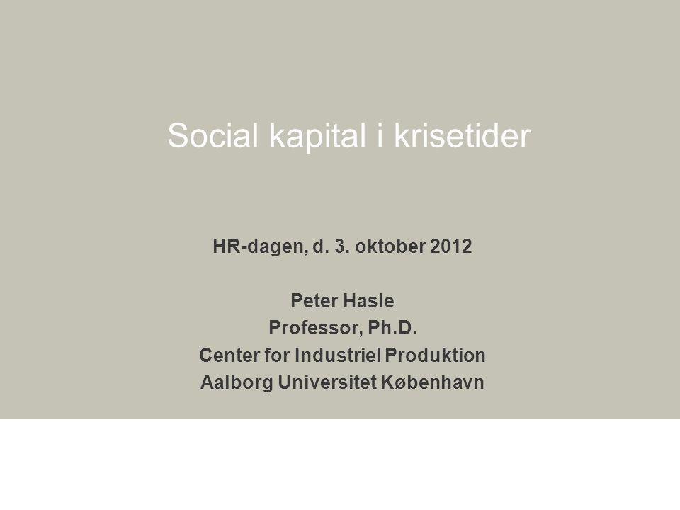 Social kapital i krisetider