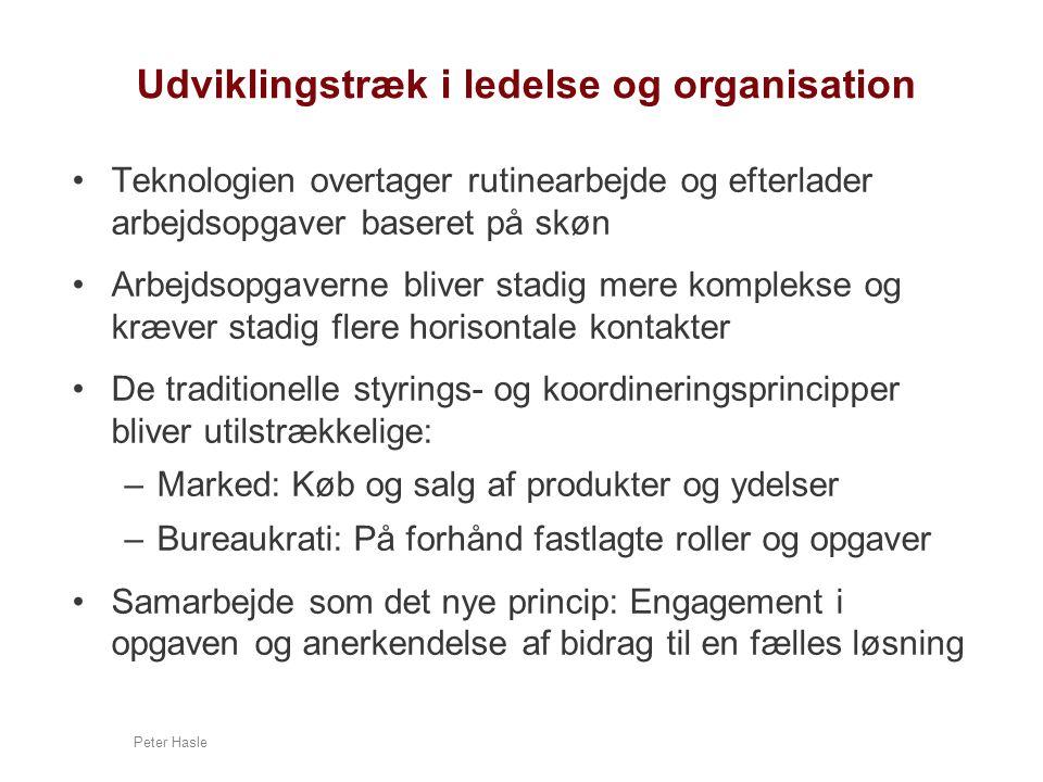 Udviklingstræk i ledelse og organisation