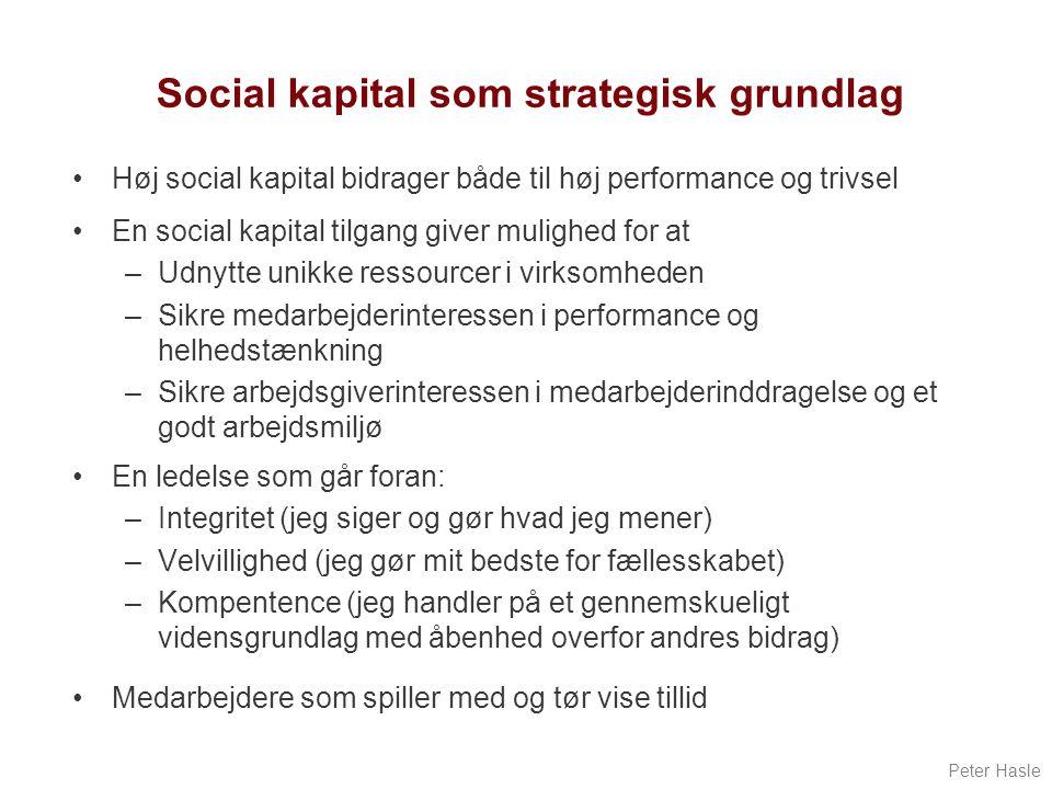 Social kapital som strategisk grundlag
