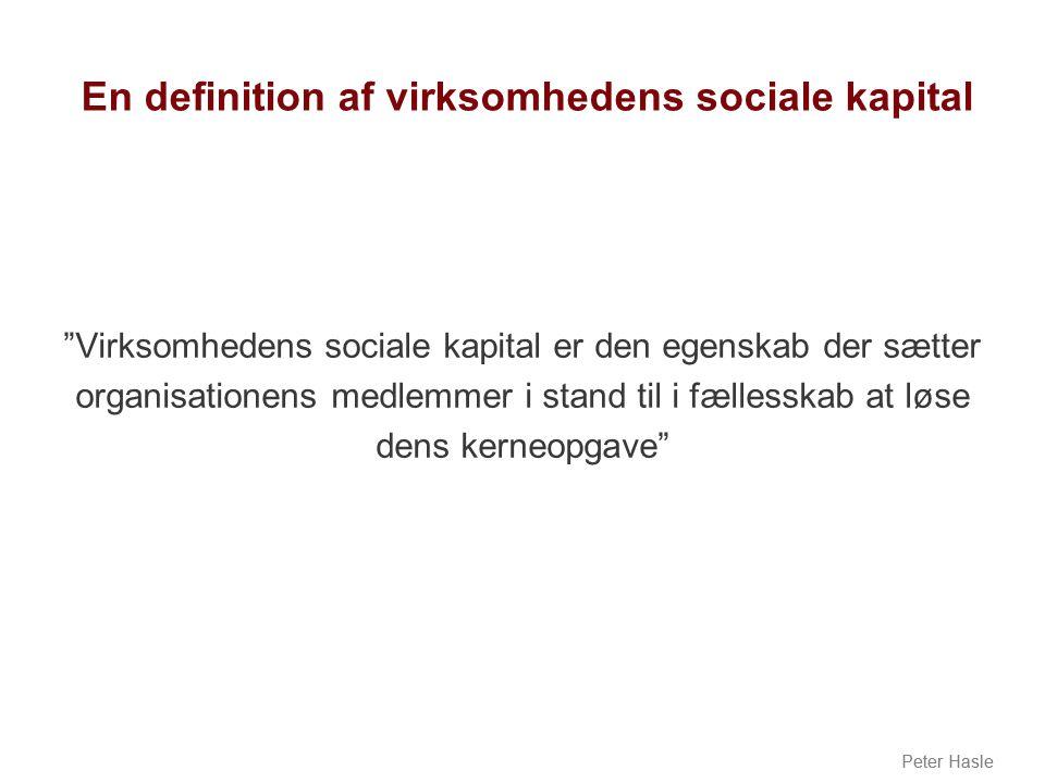 En definition af virksomhedens sociale kapital