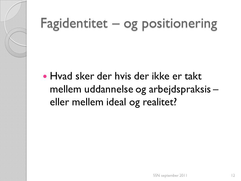 Fagidentitet – og positionering