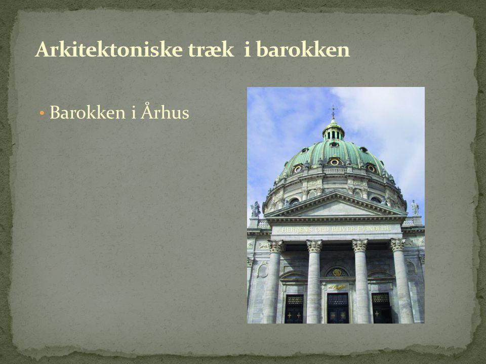 Arkitektoniske træk i barokken