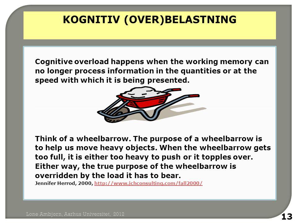 KOGNITIV (OVER)BELASTNING
