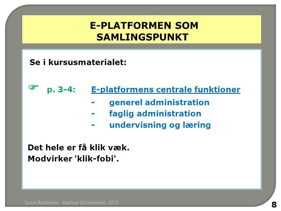 e-platformen som samlingspunkt