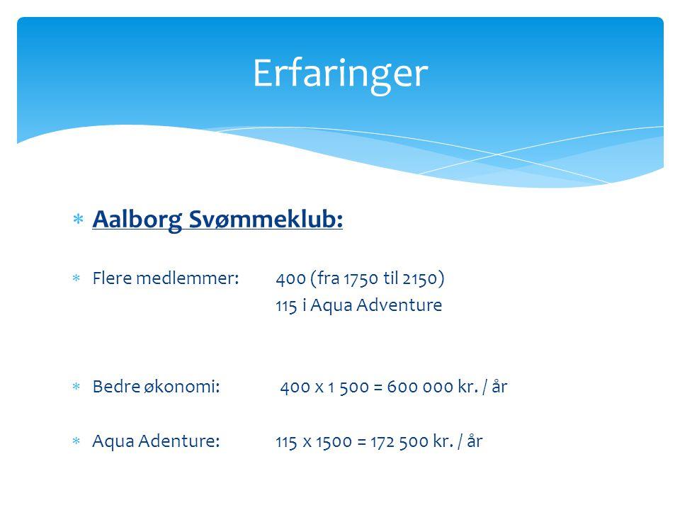 Erfaringer Aalborg Svømmeklub: