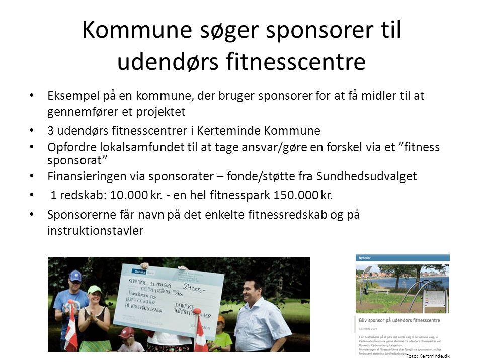 Kommune søger sponsorer til udendørs fitnesscentre