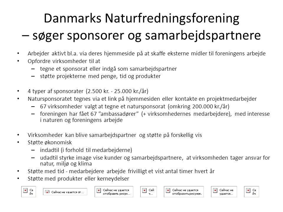 Danmarks Naturfredningsforening – søger sponsorer og samarbejdspartnere