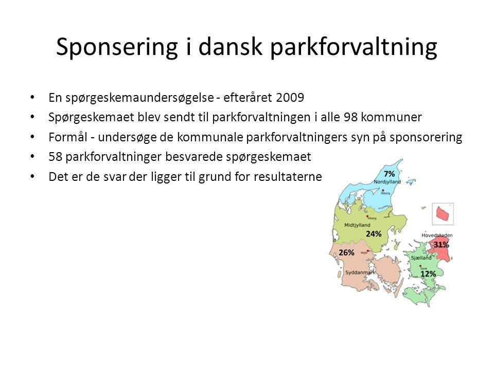 Sponsering i dansk parkforvaltning