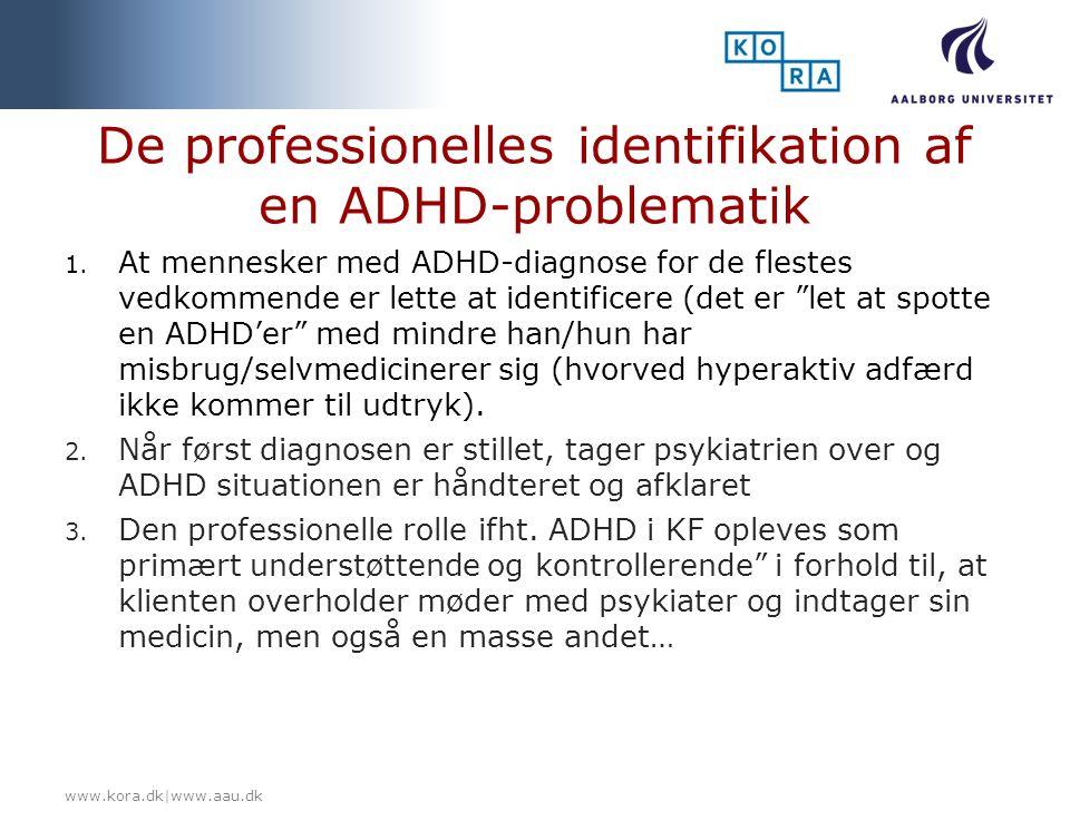 De professionelles identifikation af en ADHD-problematik