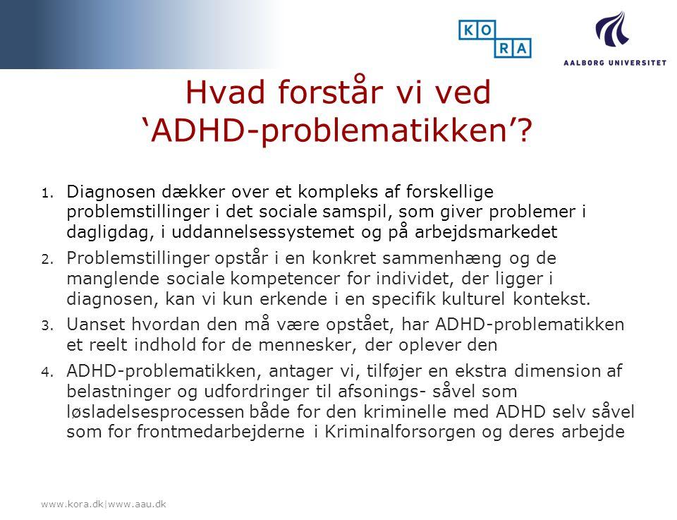 Hvad forstår vi ved 'ADHD-problematikken'
