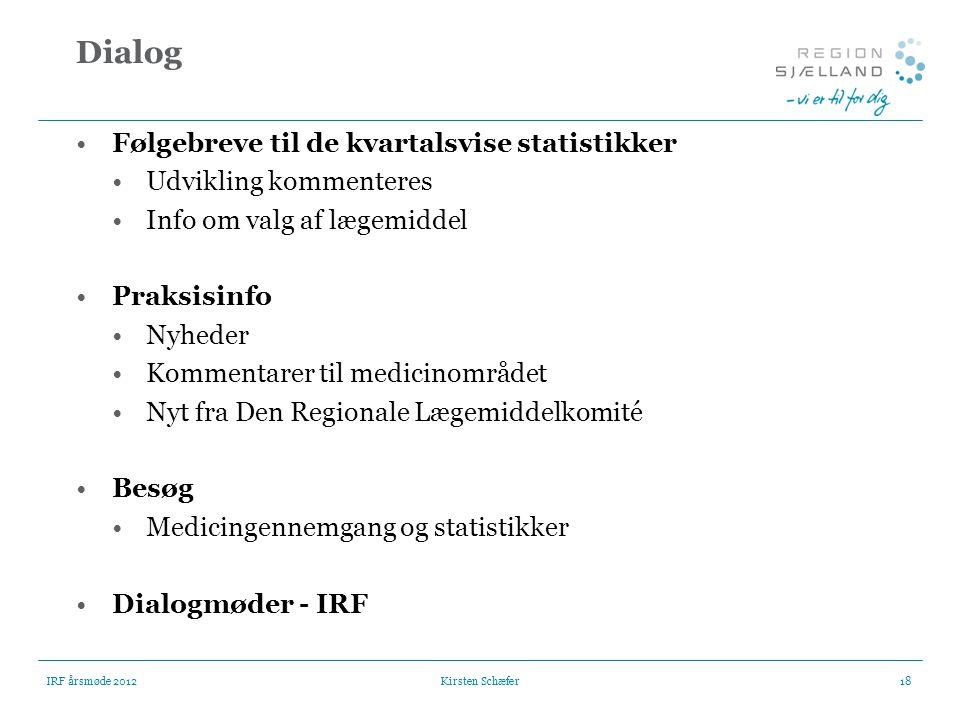 Dialog Følgebreve til de kvartalsvise statistikker