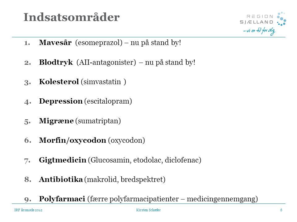 Indsatsområder Mavesår (esomeprazol) – nu på stand by!