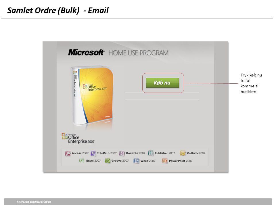 Samlet Ordre (Bulk) - Email