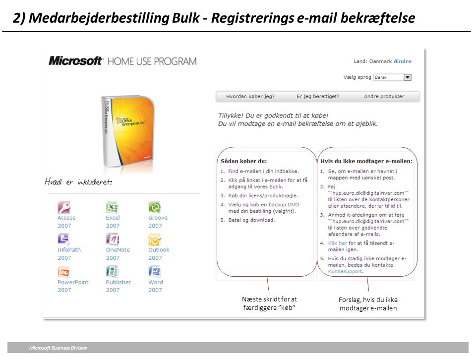 2) Medarbejderbestilling Bulk - Registrerings e-mail bekræftelse