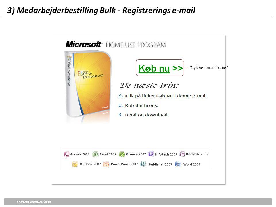 3) Medarbejderbestilling Bulk - Registrerings e-mail