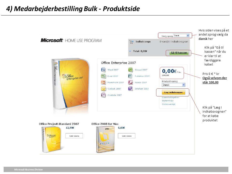 4) Medarbejderbestilling Bulk - Produktside
