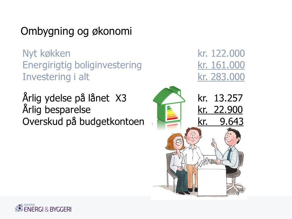 Ombygning og økonomi Nyt køkken kr. 122.000