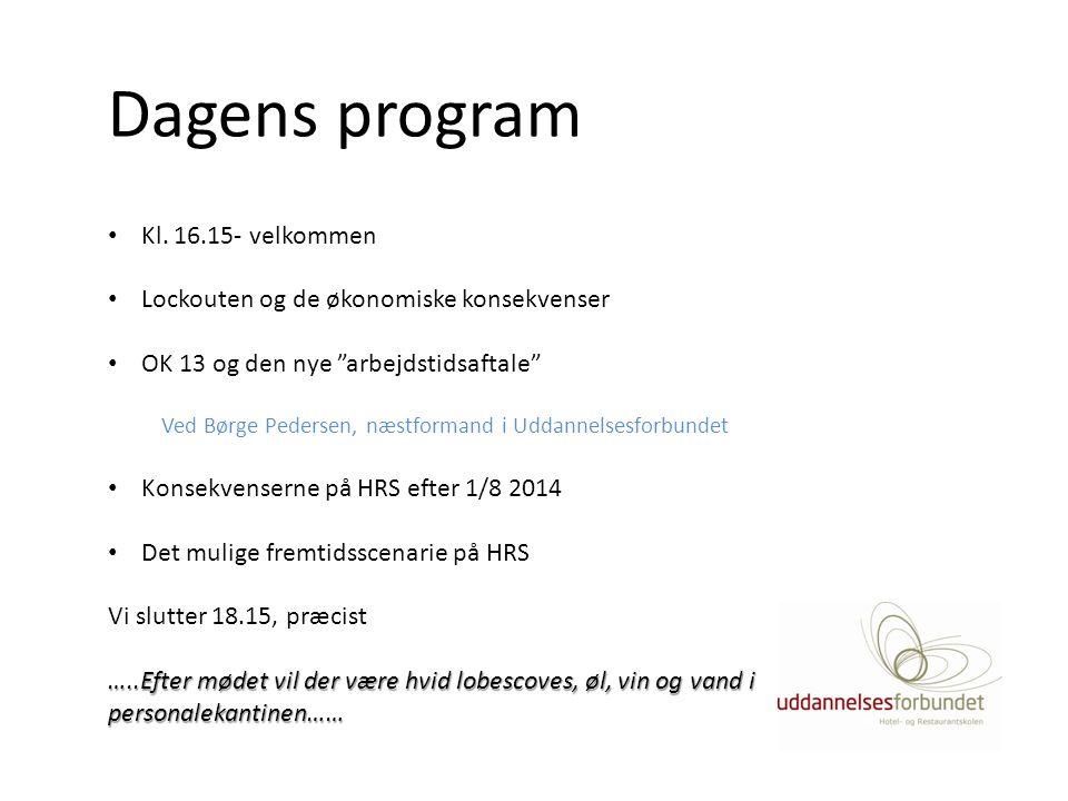 Dagens program Kl. 16.15- velkommen