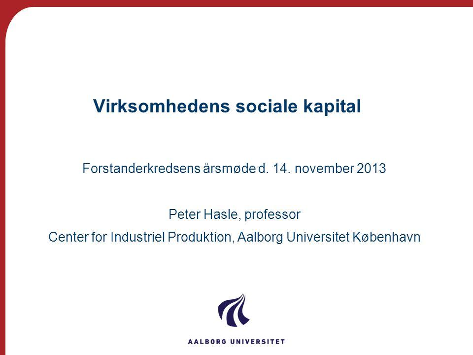 Virksomhedens sociale kapital