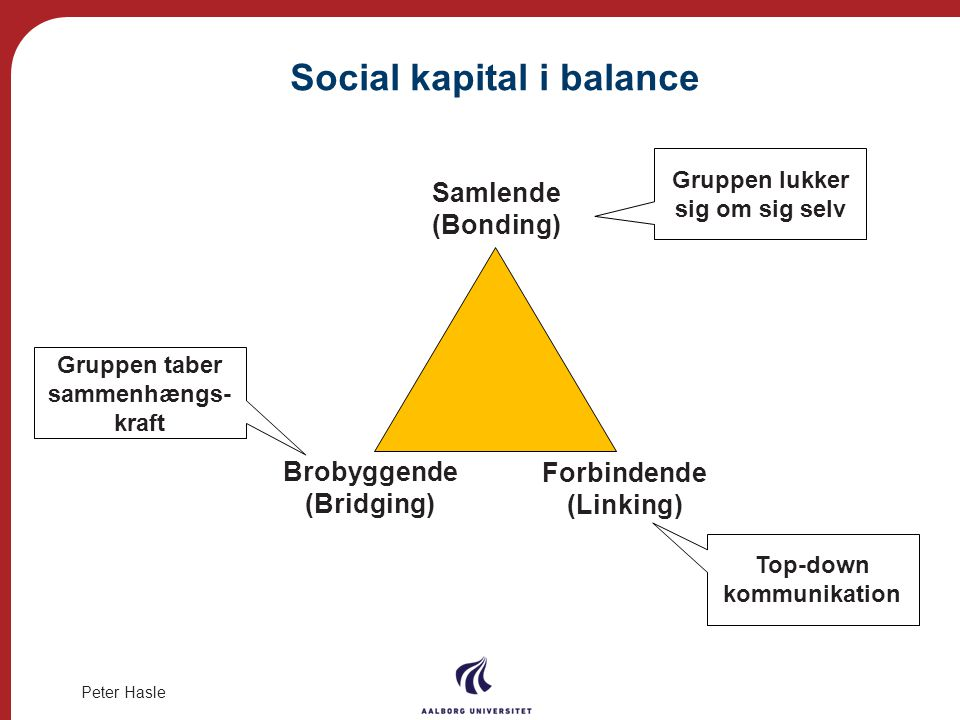 Social kapital i balance