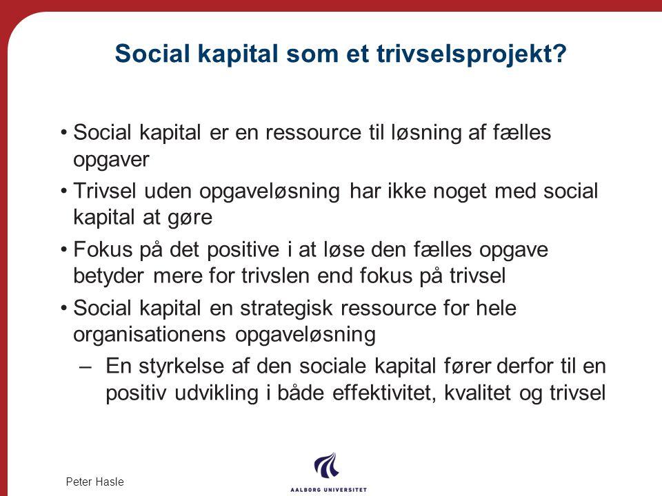 Social kapital som et trivselsprojekt