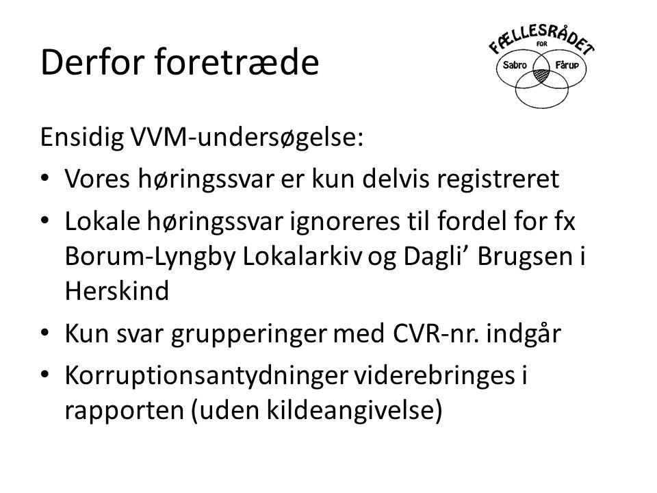 Derfor foretræde Ensidig VVM-undersøgelse: