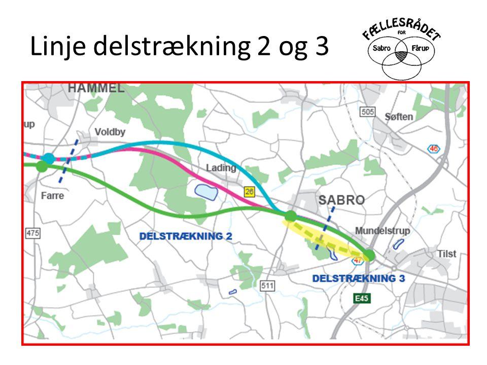 Linje delstrækning 2 og 3