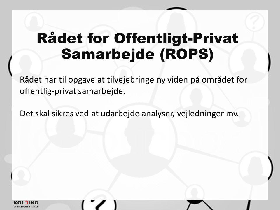 Rådet for Offentligt-Privat Samarbejde (ROPS)