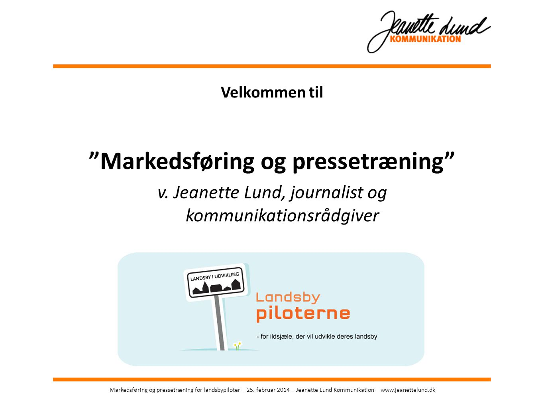 Markedsføring og pressetræning