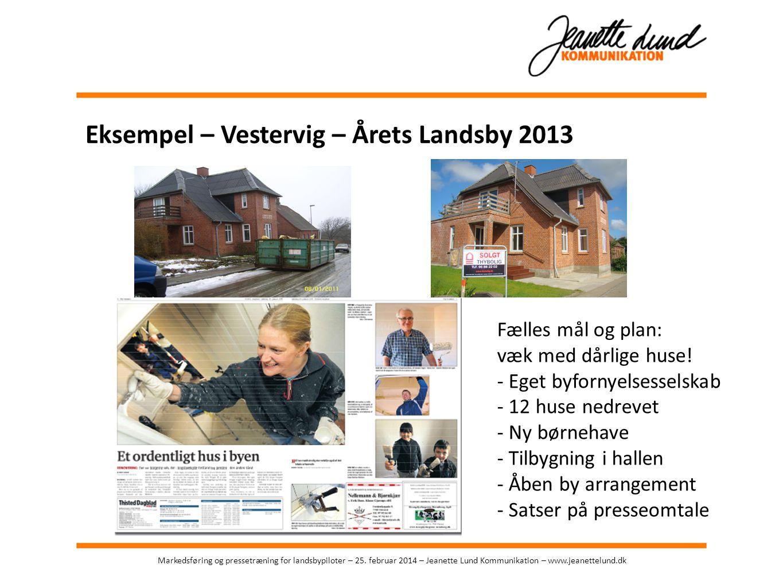 Eksempel – Vestervig – Årets Landsby 2013