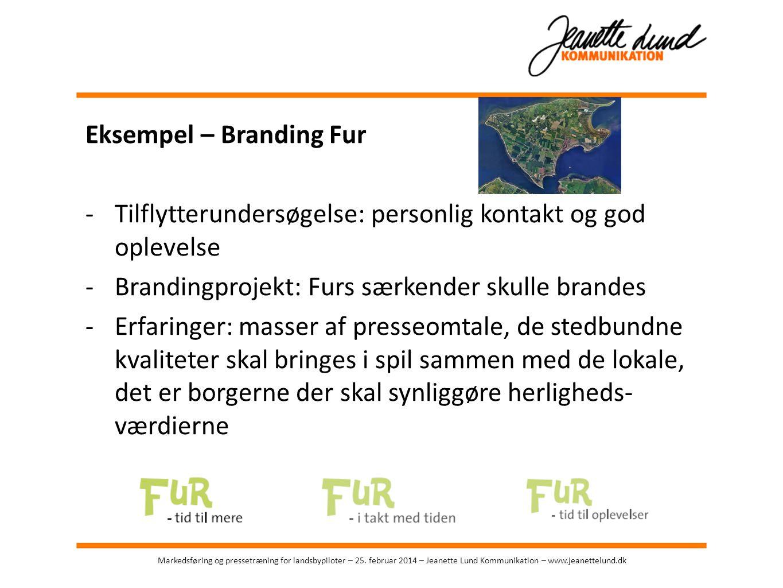 Eksempel – Branding Fur