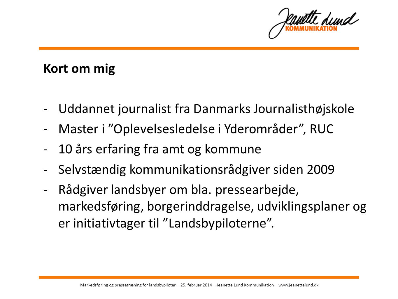 Uddannet journalist fra Danmarks Journalisthøjskole